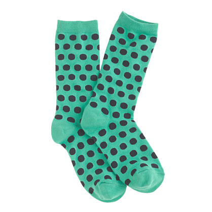 Large dot trouser socks