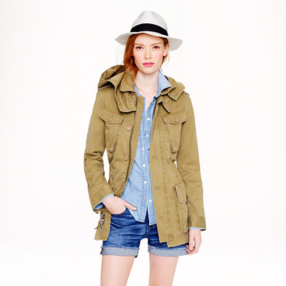 Boyfriend fatigue jacket - jackets & outerwear - Women's online shops - J.Crew :  fatigue jacket