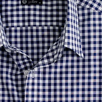 Point-collar regular-fit dress shirt in medium gingham