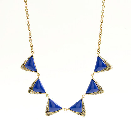 Factory crystal triangle pendant necklace