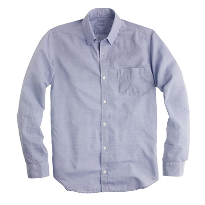 Lightweight chambray shirt in deep sea stripe