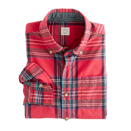 Boys' tartan shirt in vintage barn