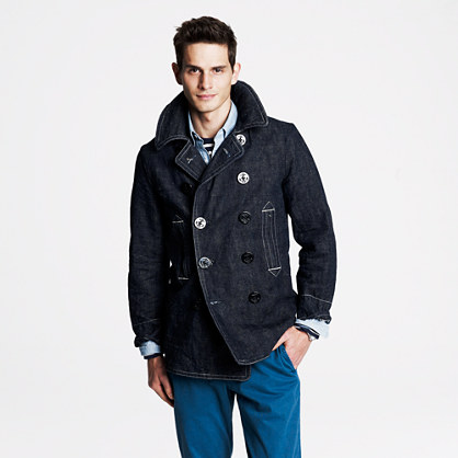 Mister Freedom® denim peacoat