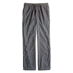 Flannel sleep pant in asphalt microgingham