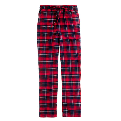 Flannel sleep pant in danbury red check
