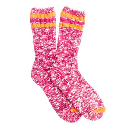 Marled rugby socks