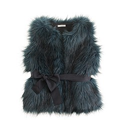 Girls' fiona faux fur vest