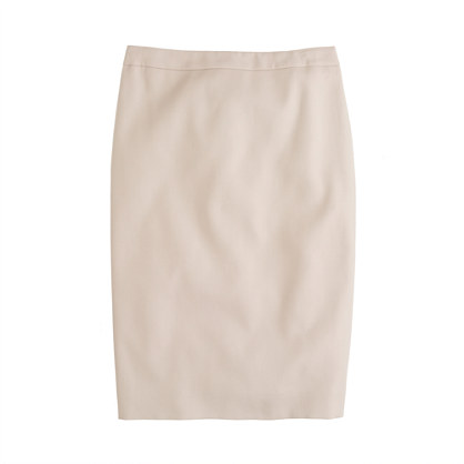 Pencil skirt in superfine cotton