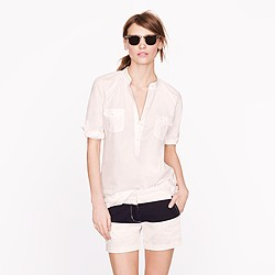 Pocket tunic in end-on-end cotton