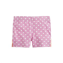 Girls' tumble short in polka dot