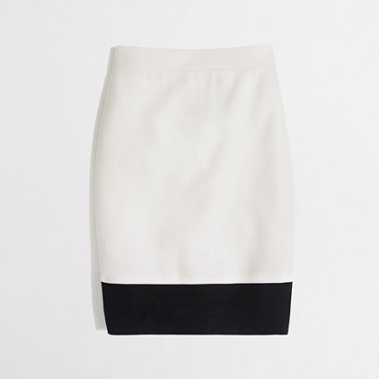 Factory pencil skirt in colorblock