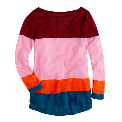 Colorblock boatneck top