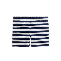 Girls' tumble short in nautical stripe