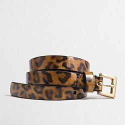 Factory girls' patent tortoise belt