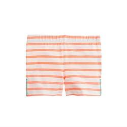 Girls' tumble short in stripe