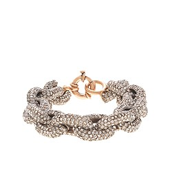 Color crystal pavé link bracelet
