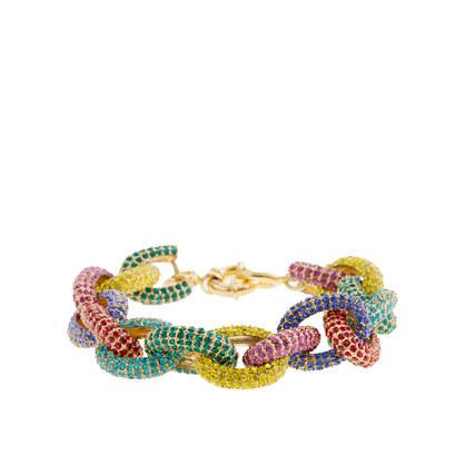 Multicolor pavé link bracelet