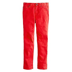 Boys' slim jean in garment-dyed wash