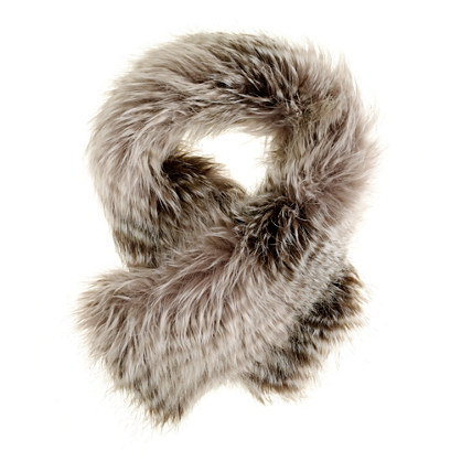 Girls' faux-fox scarf