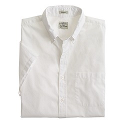 Secret Wash short-sleeve shirt in white