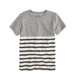 Boys' tee in heathered colorblock stripe