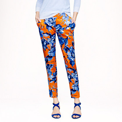 Collection silk pant in Ratti painter's floral