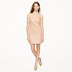 Gilded dot brocade dress