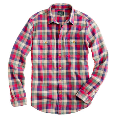 Buy flannel shirts - Flannel shirt in vintage barn plaid