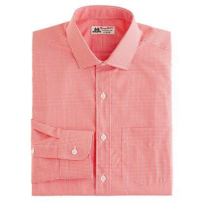 Thomas Mason® for J.Crew spread-collar dress shirt in papaya gingham