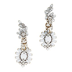 Lulu Frost for J.Crew crystal and color statement earrings