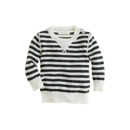 Collection cashmere baby sweater in mini stripe