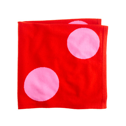 Collection baby cashmere polka-dot blanket
