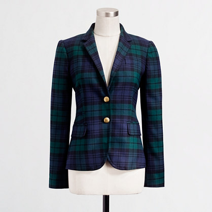 Factory classic blazer in Black Watch plaid