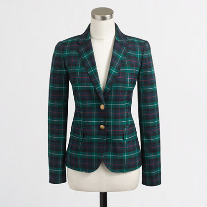 Factory black watch plaid blazer