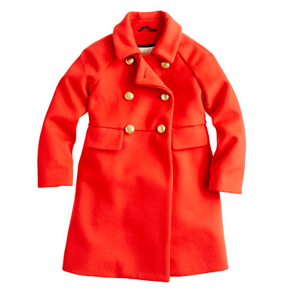 Girls' gold-button coat