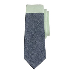 Boys' tie in pieced colorblock