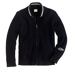 Boys' baseball sweater-jacket