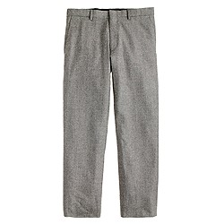 Ludlow slim suit pant in Prince of Wales check Italian wool flannel