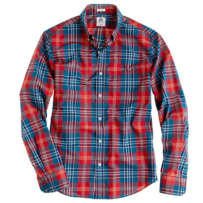 Slim Thomas Mason® Archive for J.Crew shirt in 1894 plaid