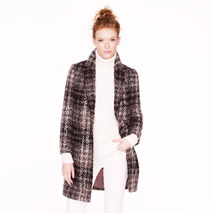 Collection tartan car coat