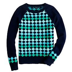 Lambswool diamond sweater