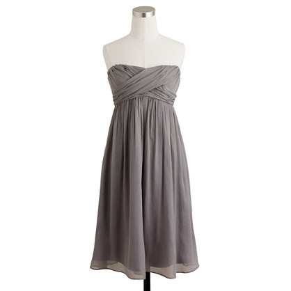Petite Taryn dress in silk chiffon