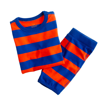 Boys' short-sleeve sleep set in wide stripe