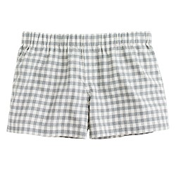 Flannel gingham boxers