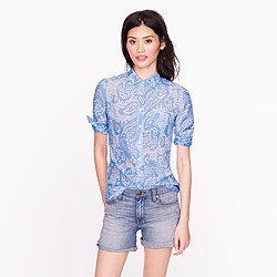 Boy shirt in oversize paisley