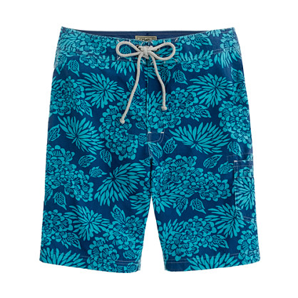"9"" board short in aloha floral"