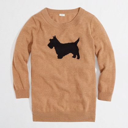 Factory intarsia Charley sweater in scottie