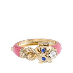Enameled elephant bracelet
