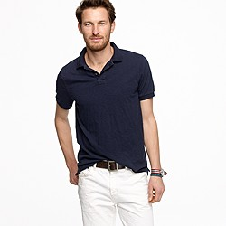 Slub cotton polo