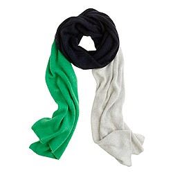 Wool-angora colorblock scarf